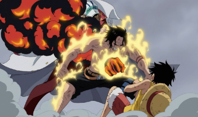 one piece ace dies