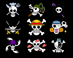 straw hats jolly rogers