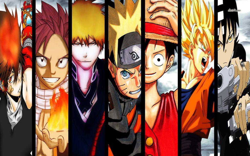 one piece fairytail bleach naruto