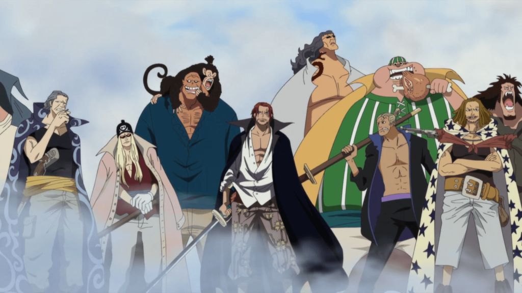 red haired pirates marineford