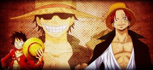 Luffy Roger Shanks