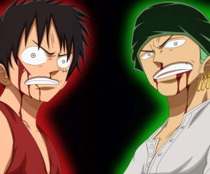 one piece luffy vs zoro