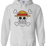 Straw Hat Hoodie White