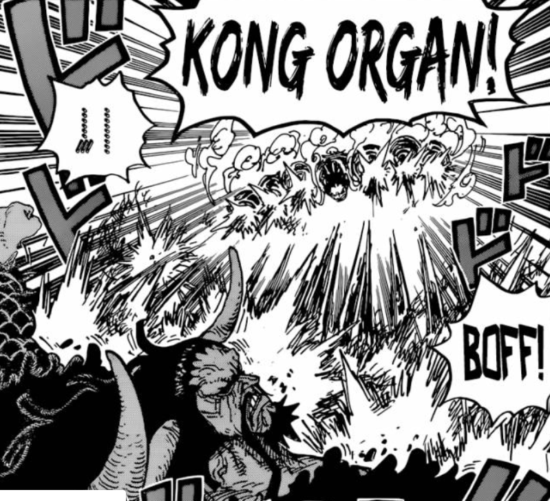 Luffy attacks Kaido - One Piece Manga Chapter 923